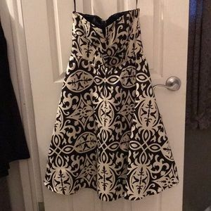 Black and white INC dress